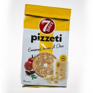 7 DAYS PIZETTI EMMENTAL TOMATO&OLIVES 80G
