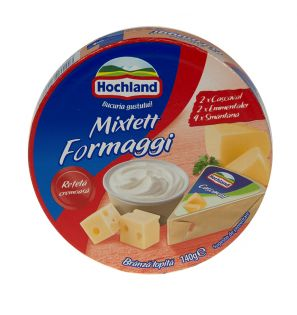 HOCHLAND BR.TOP MIXETT FORMAGGI 140G/HOCHLAND MELTED CHEESE MIXETTE FORMAGGI 140G