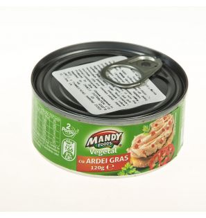 MANDY FOODS PATE VEGETAL ARDEI 120G/MANDY FOODS PEPPER PATE 120G