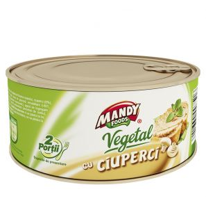 MANDY FOODS PATE VEGETAL CU CIUPERCI 120G/MANDY FOODS VEGETAL PATE WITH MUSHROOMS 120G