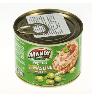 MANDY FOODS PATE VEGETAL CU MASLINE 200G/MANDY FOODS VEGTAL PATE WITH OLIVES 200G