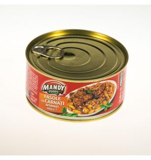 MANDY FOODS IAHNIE DE FASOLE CU CARNACIORI AFUMATI 300G/MANDY FOODS BAKED BEANS WITH SMOKED SAUSAGES 300G