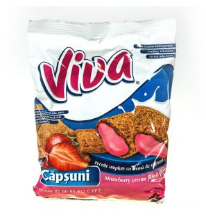 VIVA STRAWBERRY FILLED PILLOWS 200G