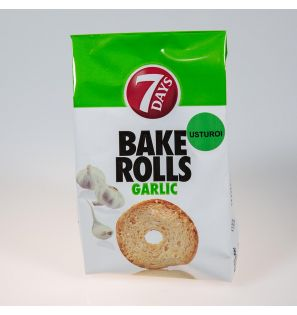BAKE ROLLS GARLIC 80G/12