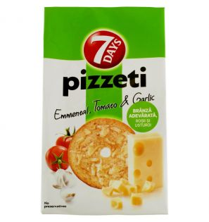 7 DAYS PIZETTI EMMENTAL TOMATO&GARLIC 80G