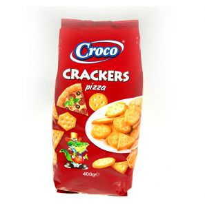 CROCO CRACKERS PIZZA 400G/15
